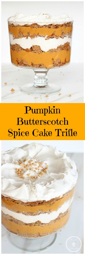 pumpkin spice cake butterscotch trifle pin