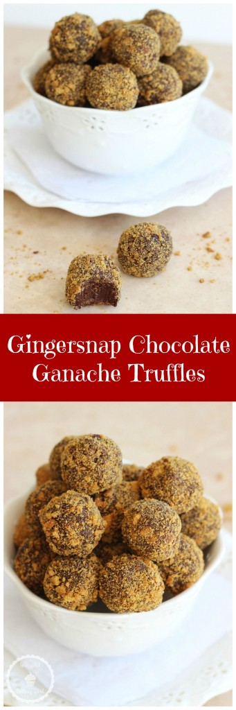 pumpkin spice cinnamon chocolate ganache gingerbread truffles pin