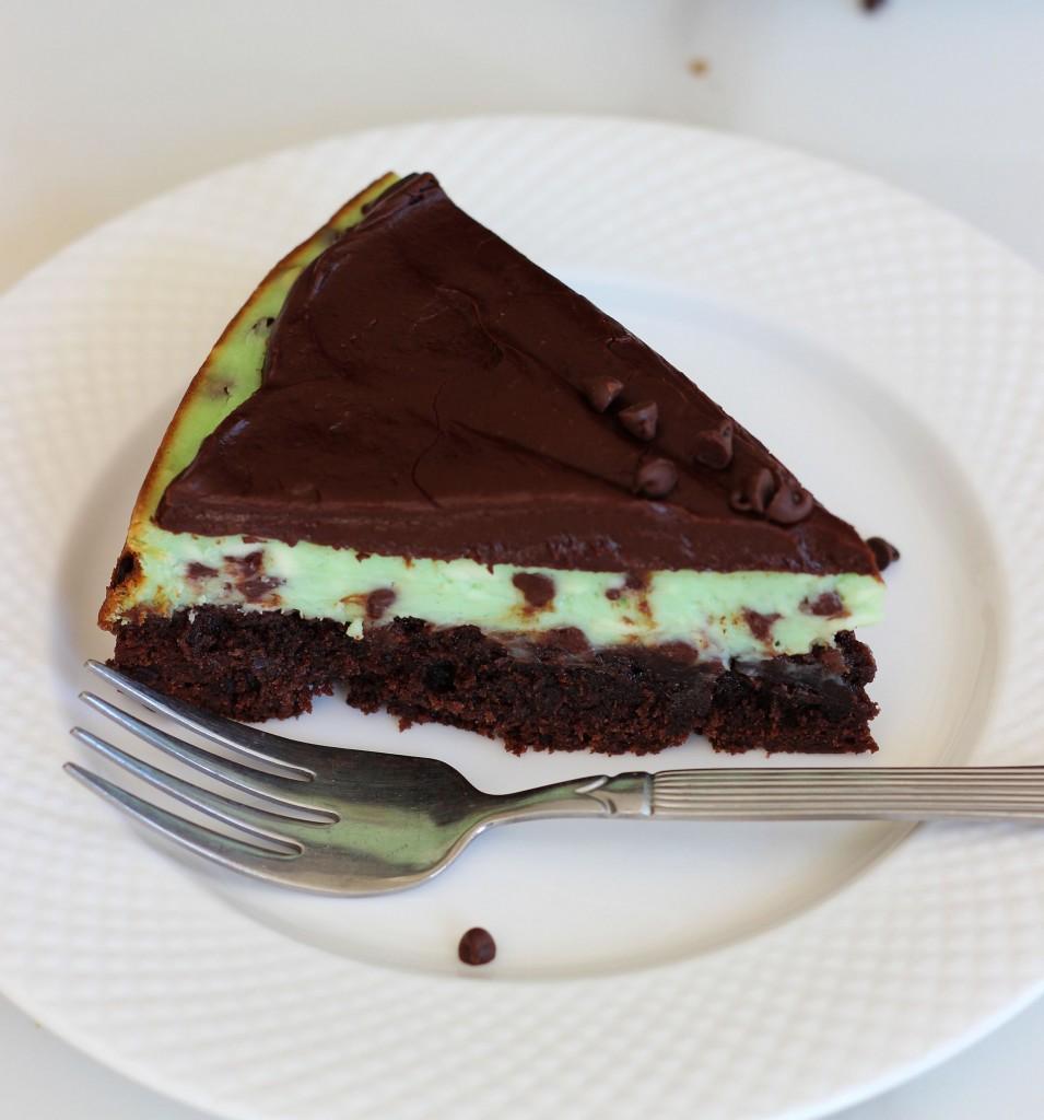 Mint chocolate chip brownie cheesecake 10