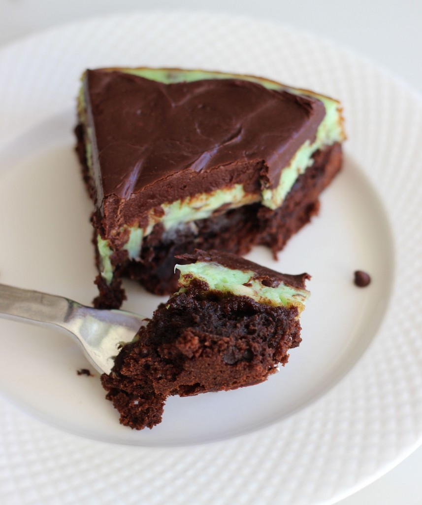 Mint chocolate chip brownie cheesecake 20
