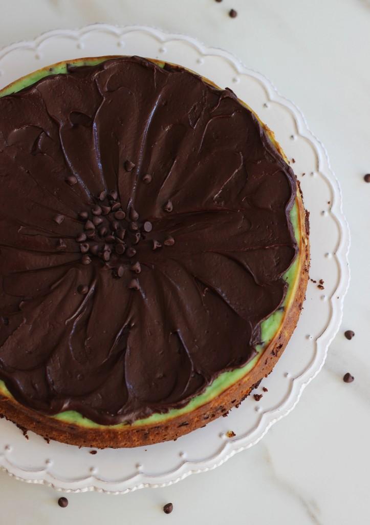 Mint chocolate chip brownie cheesecake 4