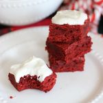 Brown Butter Red Velvet Brownies with Brown Butter Marshmallow Frosting