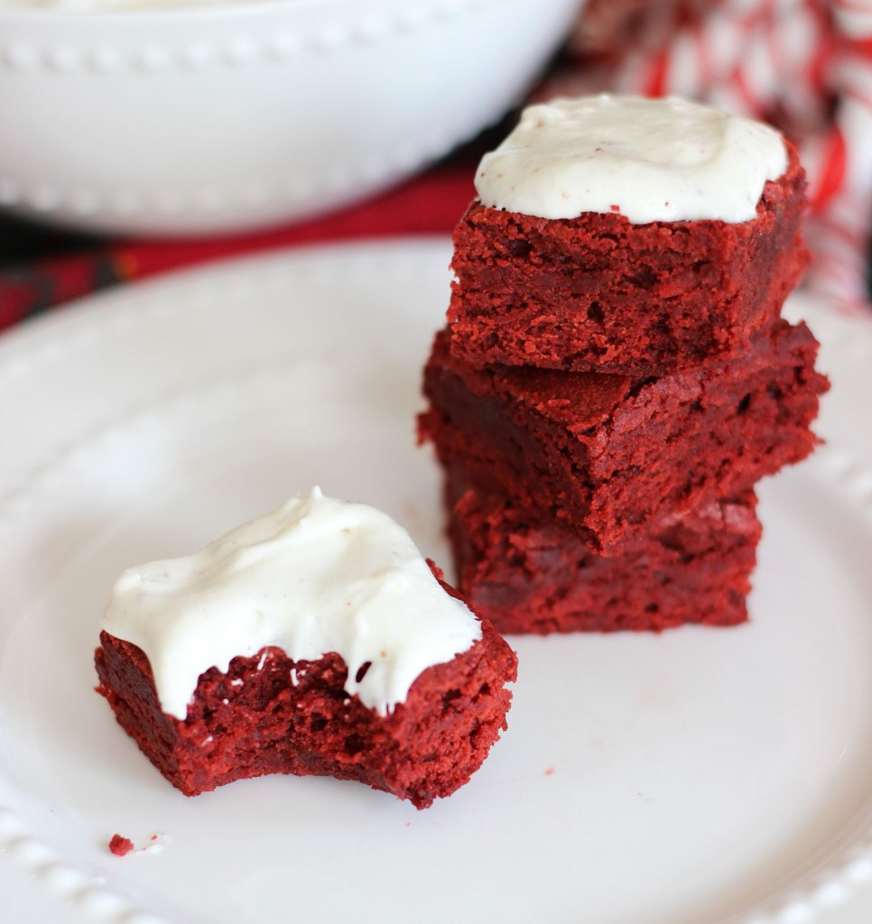 brown butter red velvet brownies with brown butter marshmallow frosting 18