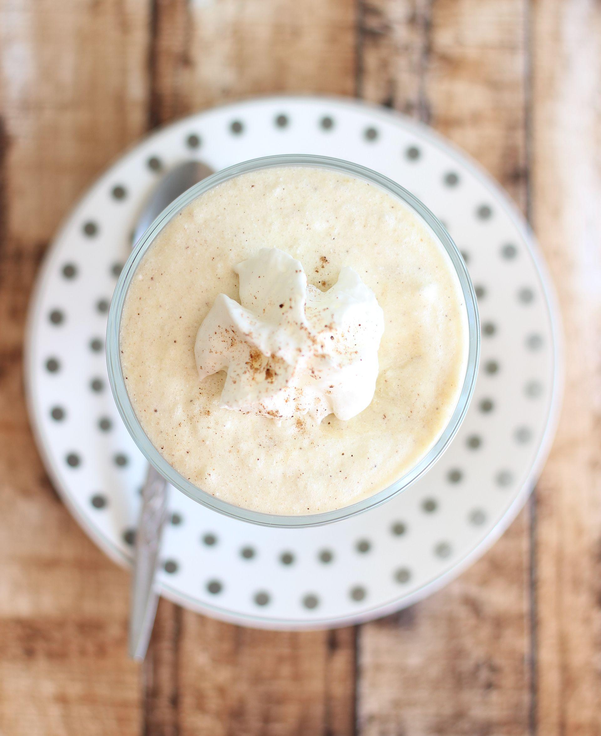 Creamy Coconut Rum Eggnog Mousse