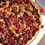 Super Easy Cranberry Pomegranate Walnut Pie
