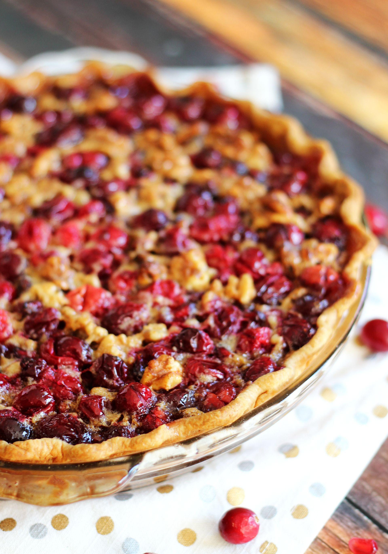 Cranberry Pomegranate Walnut Pie