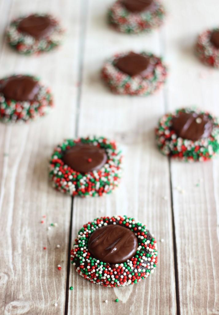 dark chocolate peppermint patty thumbprints 14