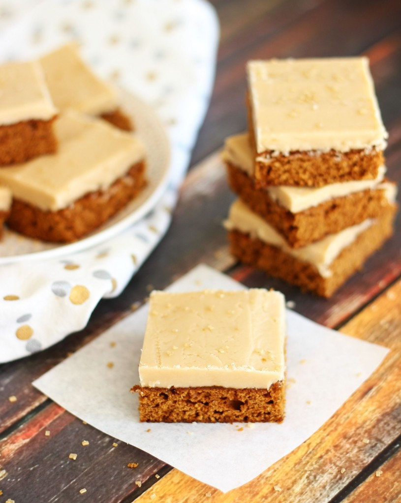 gingerbread bars with maple brown sugar frosting 1
