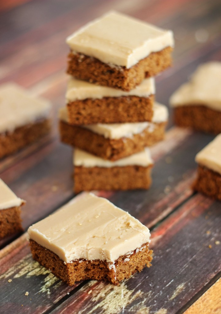 gingerbread bars with maple brown sugar frosting 17
