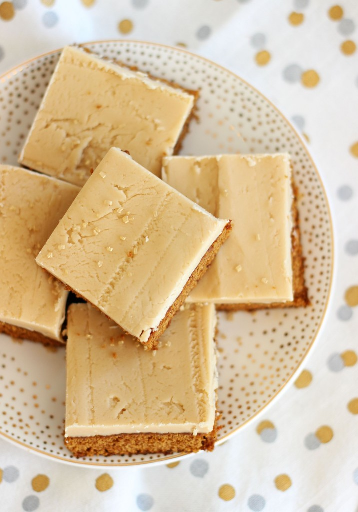 gingerbread bars with maple brown sugar frosting 3