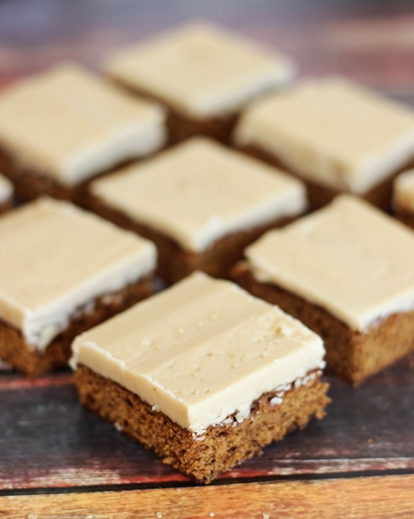 gingerbread bars with maple brown sugar frosting 9