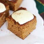 Easy Gingerbread Snack Cake with Lemon Cream Cheese Icing