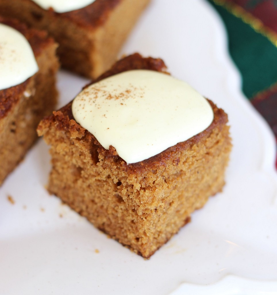 gingerbread snack cake with lemon cream cheese frosting 10