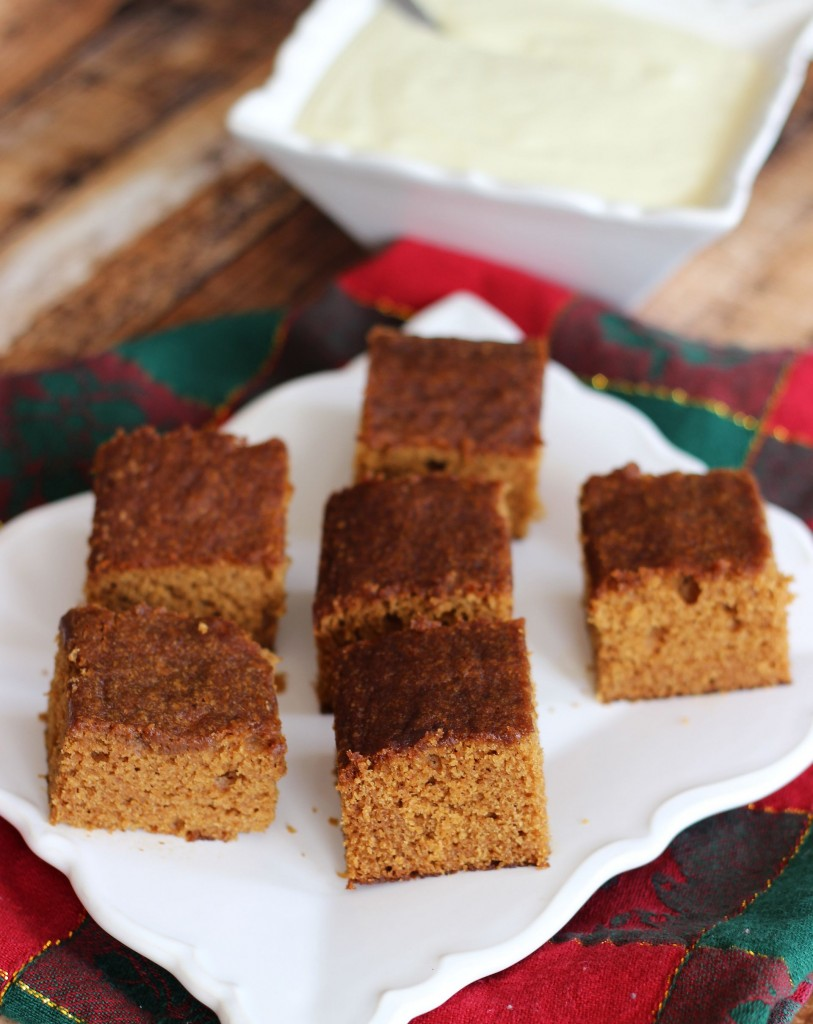 gingerbread snack cake with lemon cream cheese frosting 3