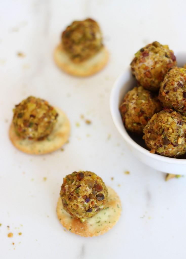 goat cheese pistachio cranberry truffles 12
