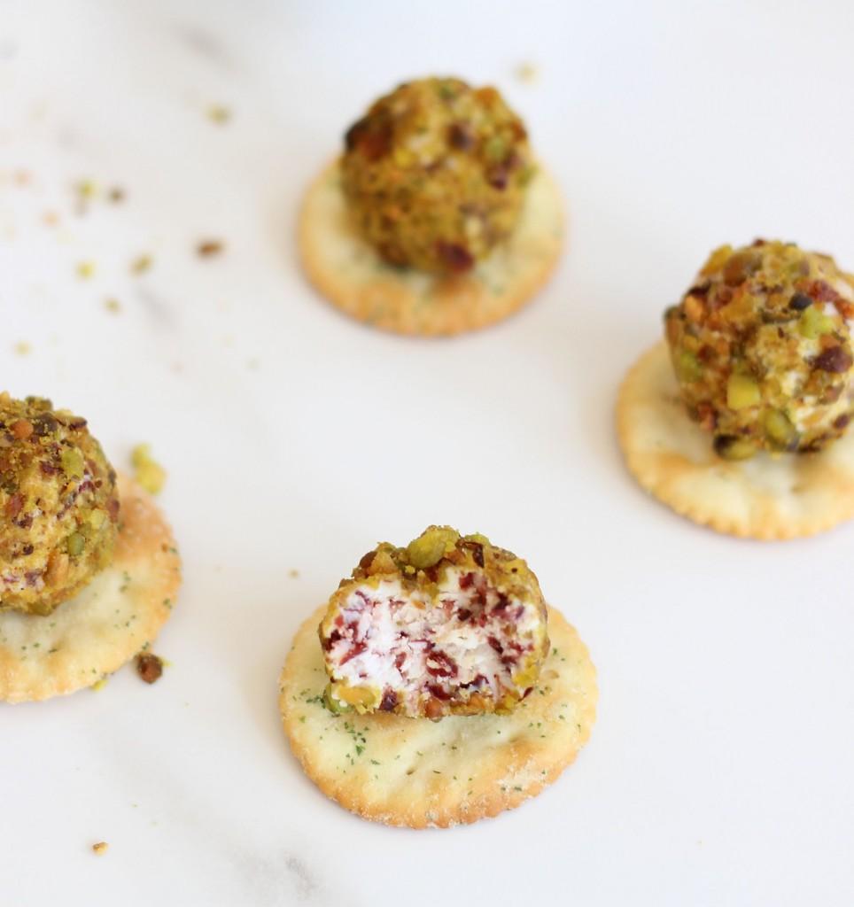 goat cheese pistachio cranberry truffles 5