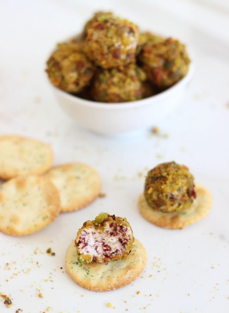 goat cheese pistachio cranberry truffles 7