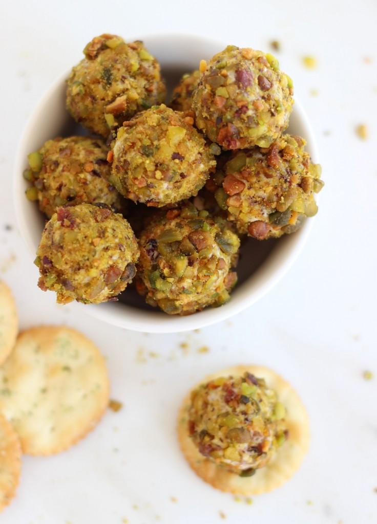 goat cheese pistachio cranberry truffles 8