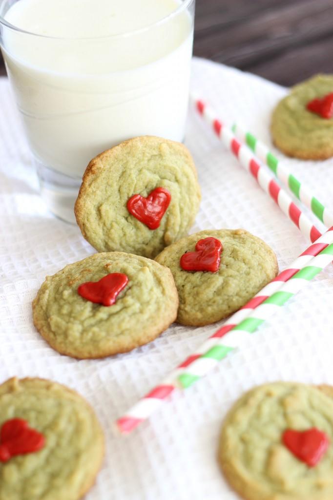 pistachio pudding grinch cookies 10
