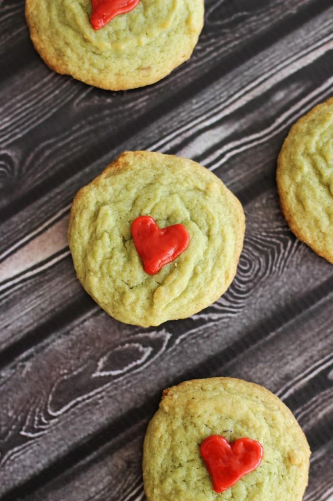 pistachio pudding grinch cookies 12