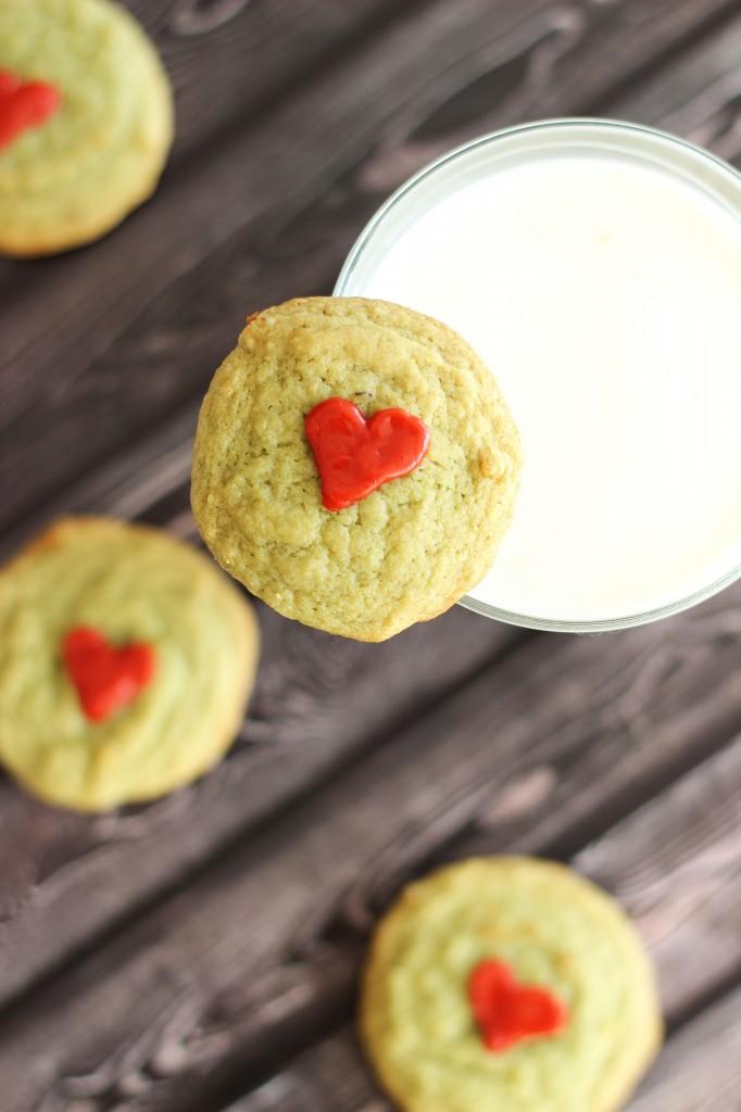 pistachio pudding grinch cookies 13