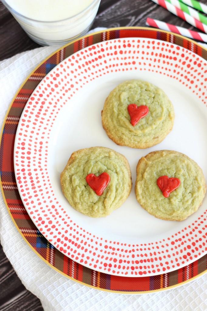 pistachio pudding grinch cookies 6