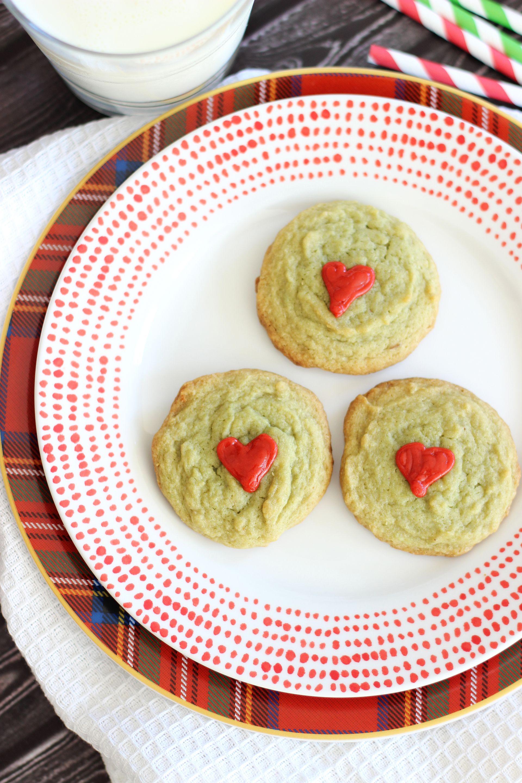 Grinch Cookies Pistachio Pudding Cookies