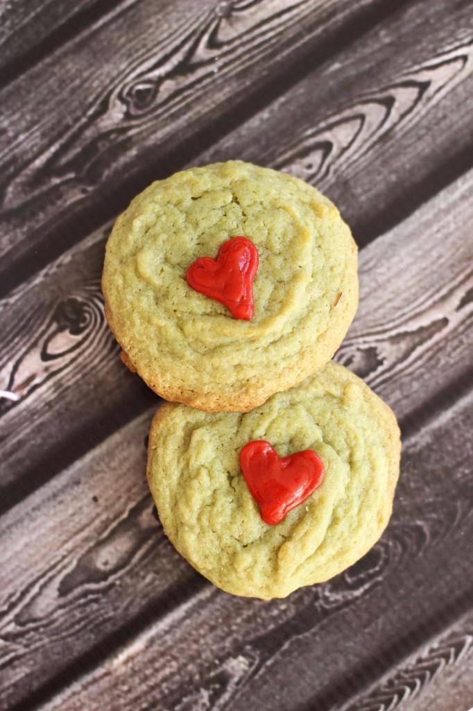 pistachio pudding grinch cookies 7