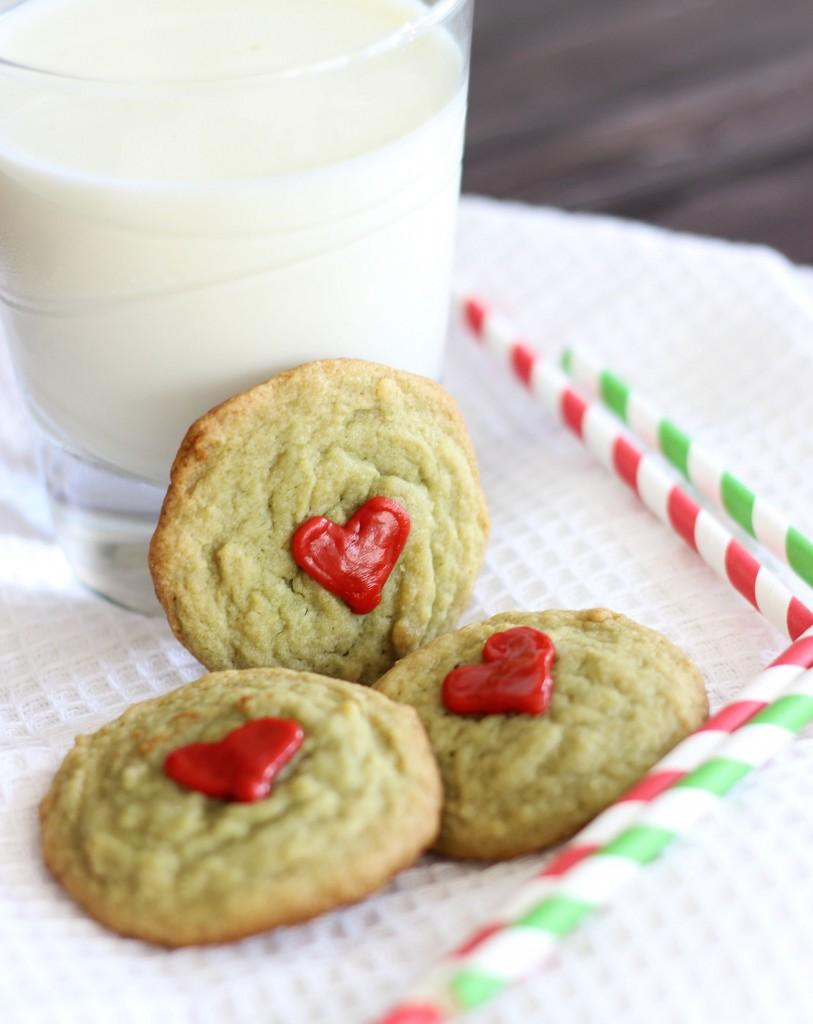 pistachio pudding grinch cookies 9
