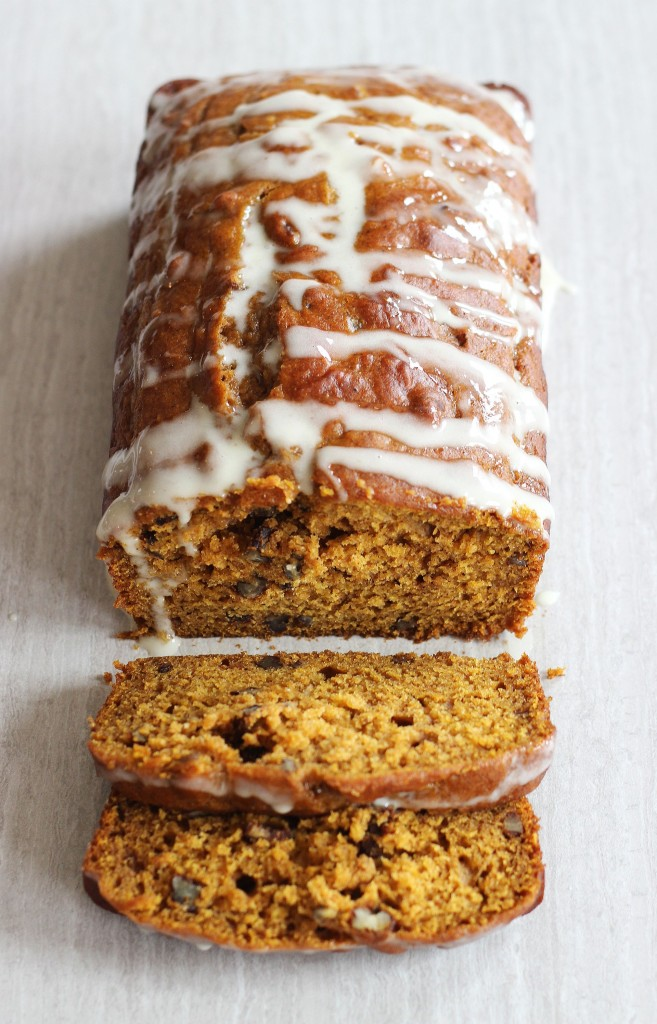pumpkin eggnog bread w eggnog glaze fail