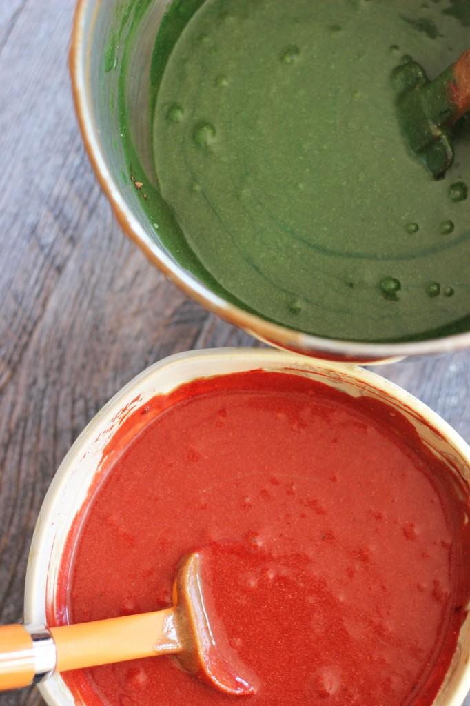 red velvet and green velvet cake truffles 4