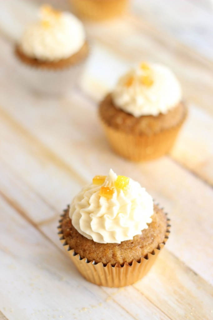 sweet potato cupcakes with amaretto orange frosting 12