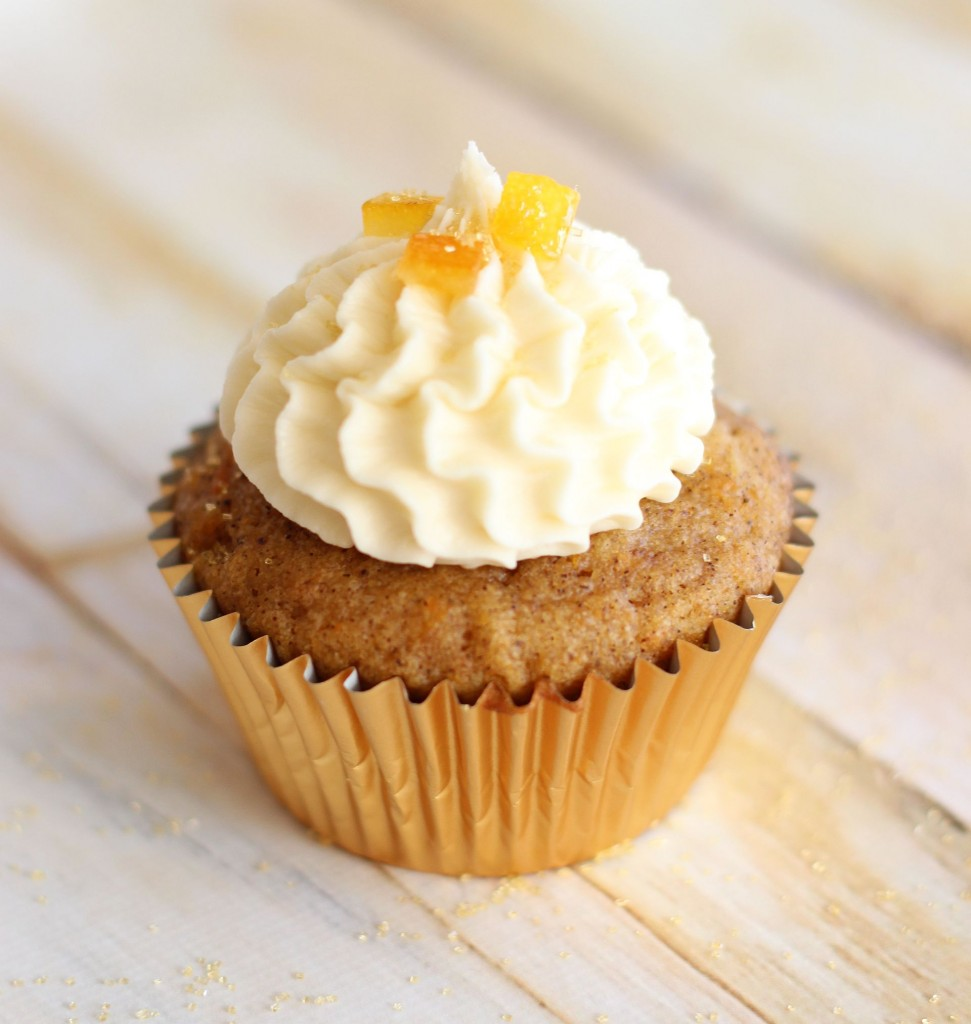 sweet potato cupcakes with amaretto orange frosting 14