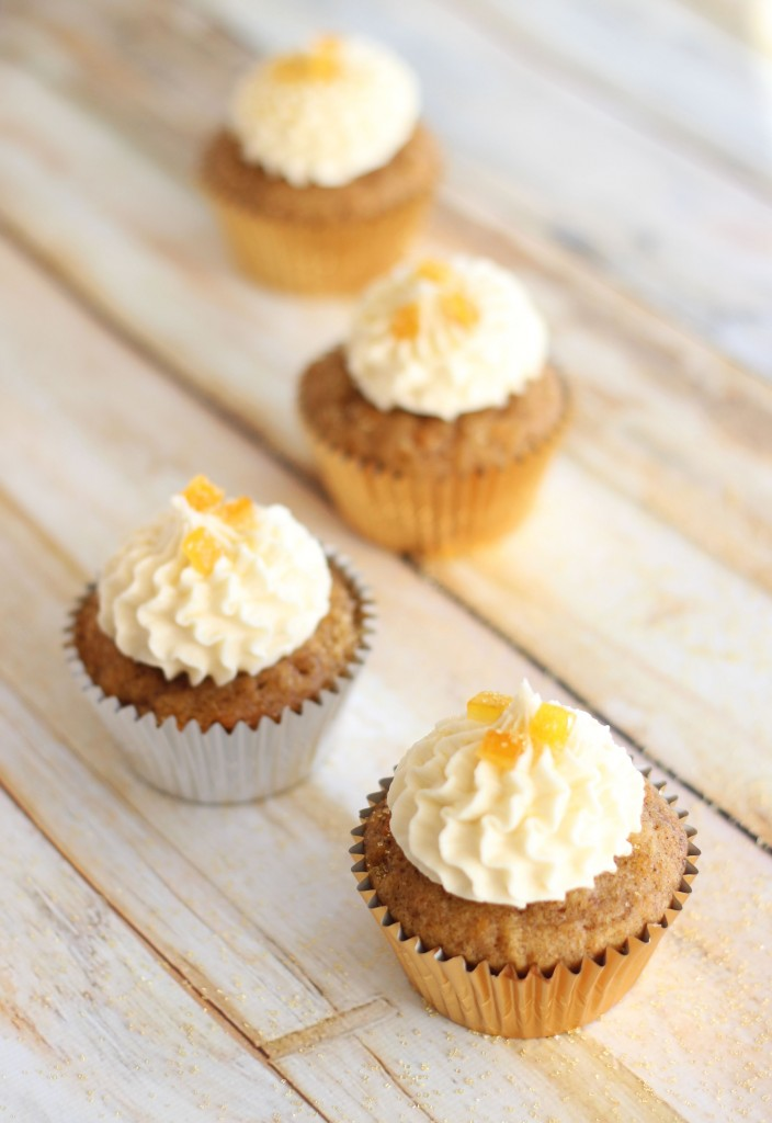 sweet potato cupcakes with amaretto orange frosting 17