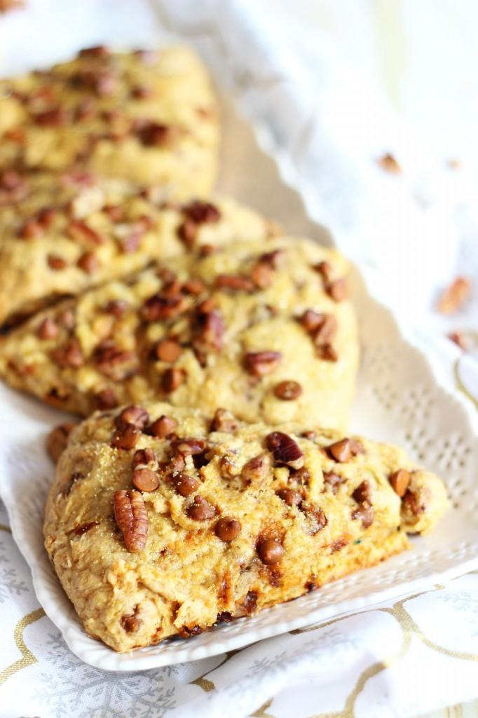 sweet potato pecan pie cinnamon chip scones 1