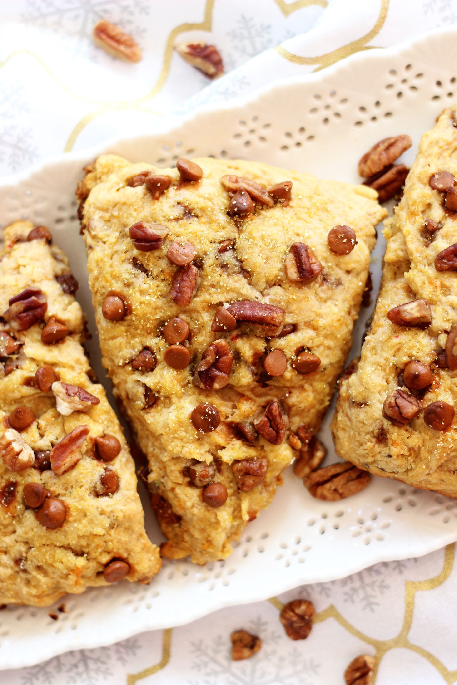 Sweet Potato Pecan Pie Scones