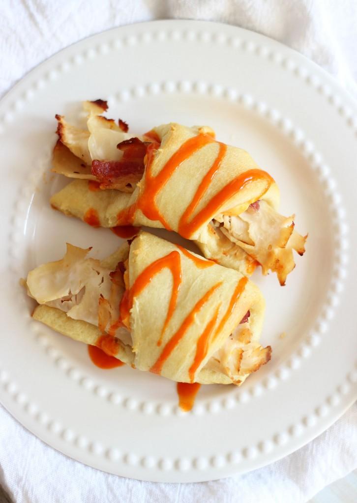 Buffalo Chicken Bacon Ranch Cream Cheese Croissants 9