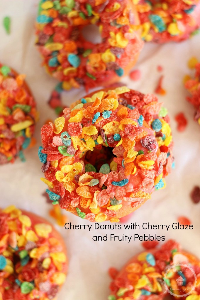cherry donuts with cherry glaze and fruit pebble topping 21 pin