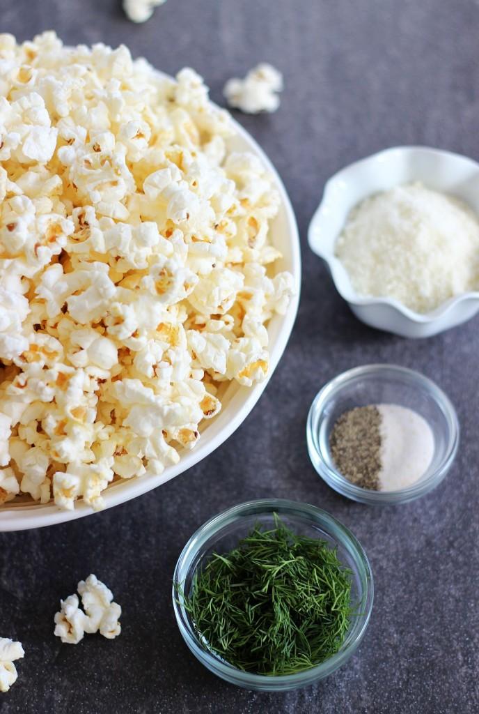 dill garlic parmesan popcorn 2
