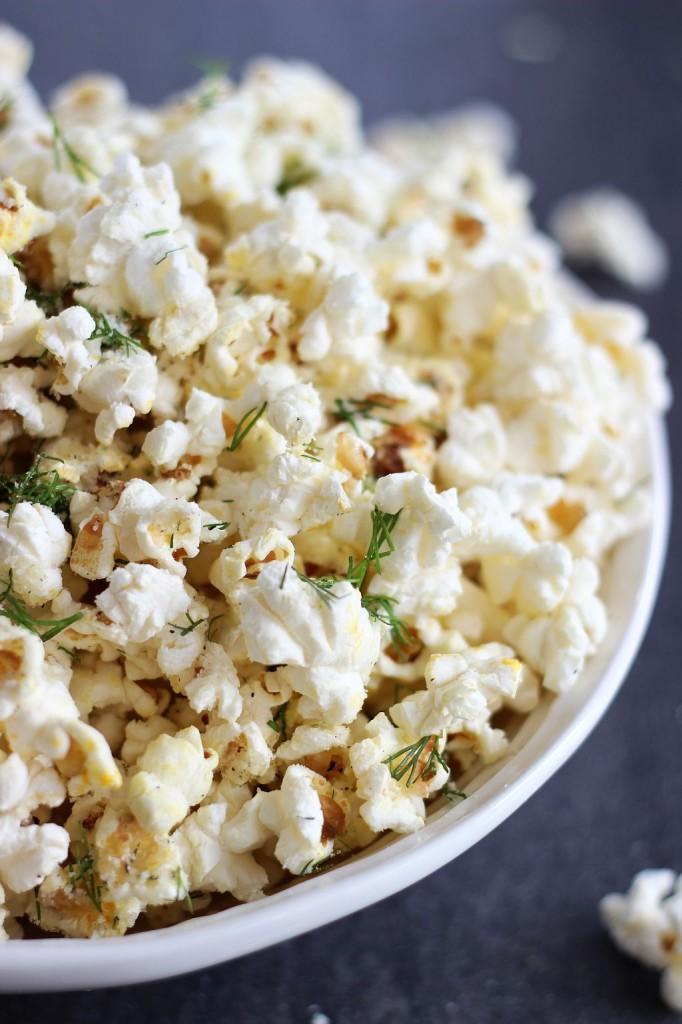 dill garlic parmesan popcorn 7