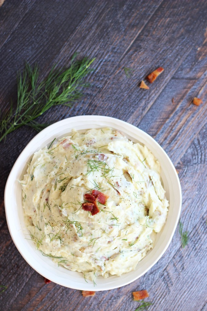mashed potatoes with bacon dill sour cream and cream cheese 8