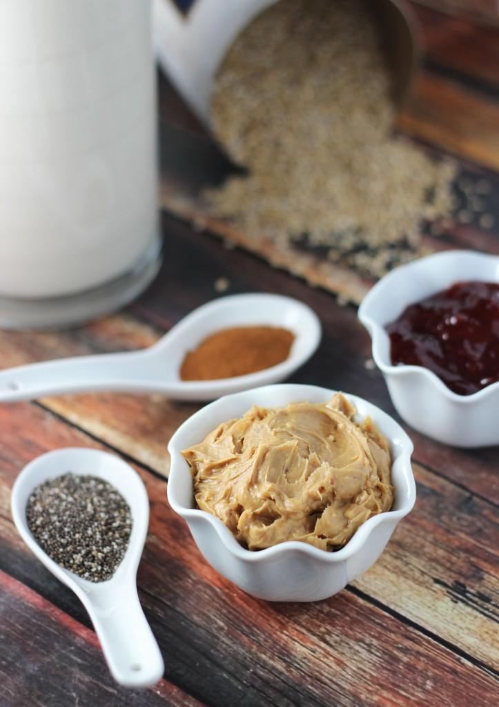 peanut butter and jelly strawberry jam crock pot steel cut oats 2