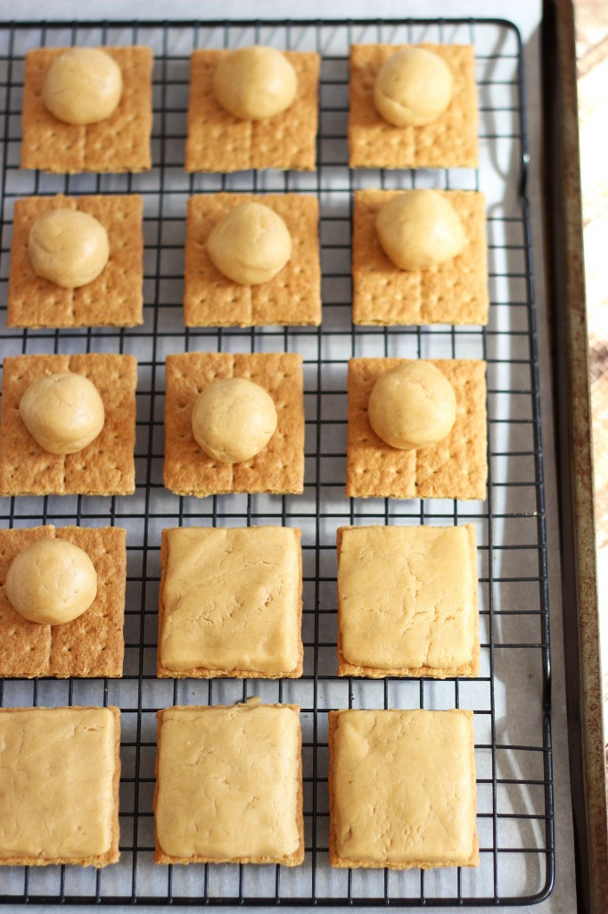 peanut butter buckeye graham crackers 4