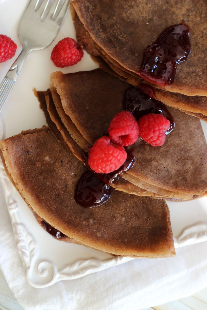 Chocolate Hazelnut Crepes with Nutella Cheesecake Raspberry Jam 7