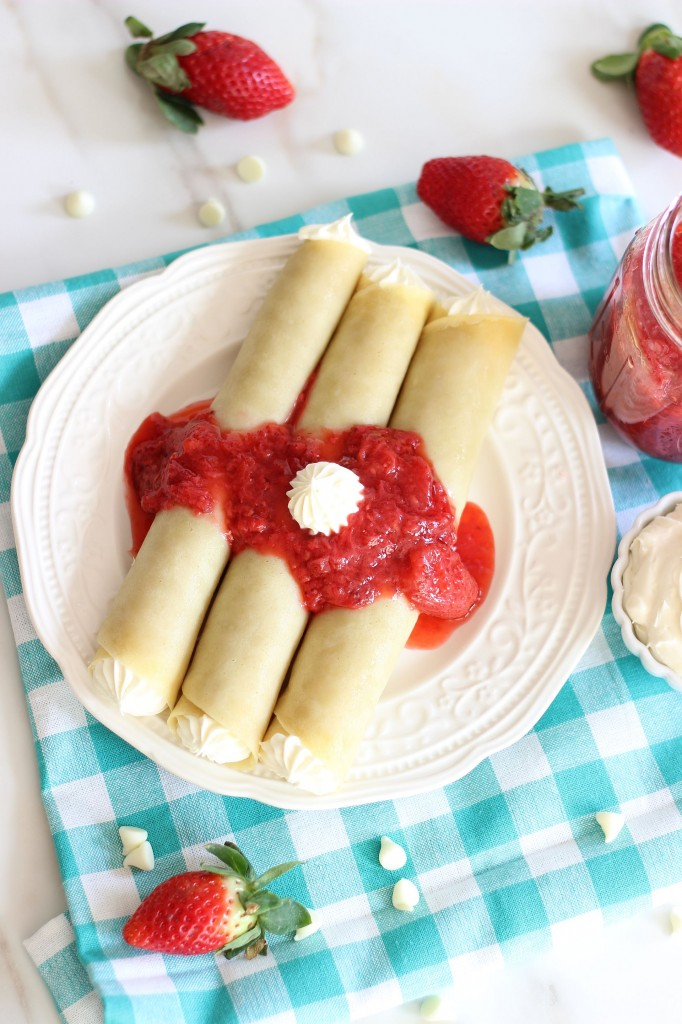 Strawberries Champagne White Chocolate Mousse Crepes 4