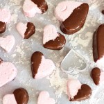 Chocolate Dipped Strawberry Marshmallow Hearts