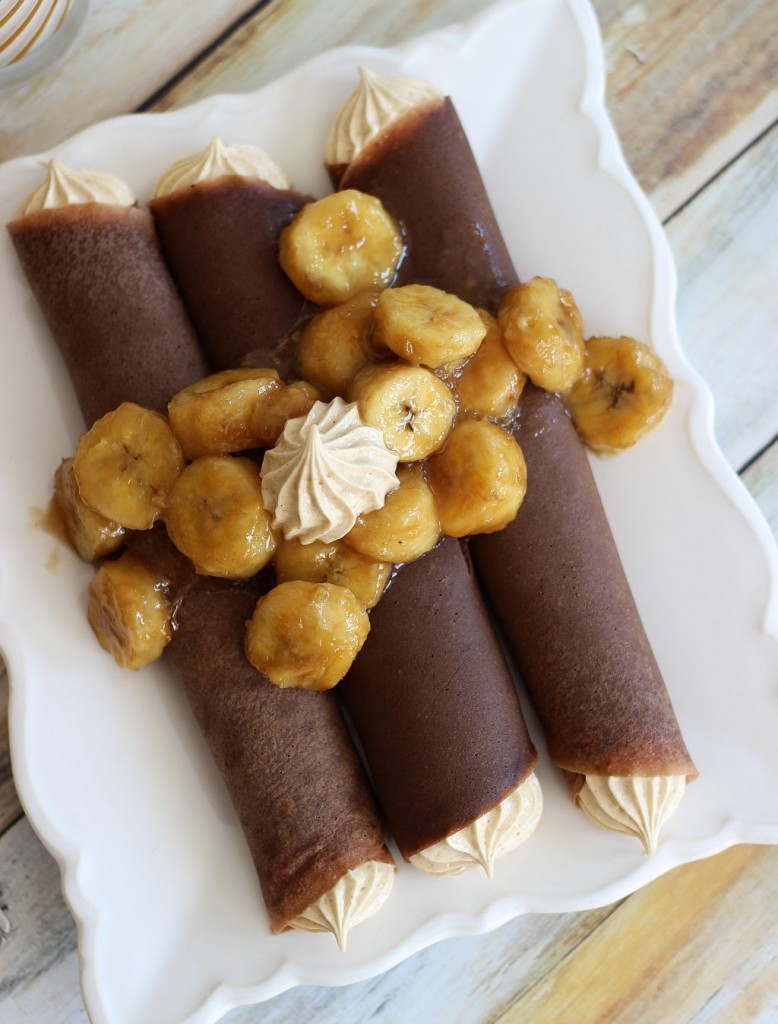 chocolate crepes with peanut butter marshmallow filling and caramelized bananas 11