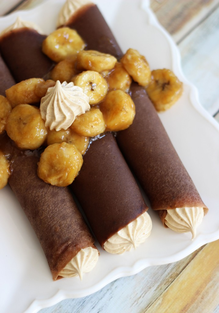 chocolate crepes with peanut butter marshmallow filling and caramelized bananas 2