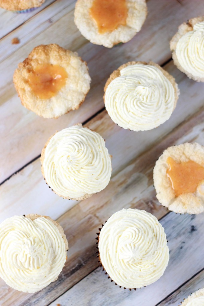 grapefruit angel food cupcakes with grapefruit curd and coconut frosting 13