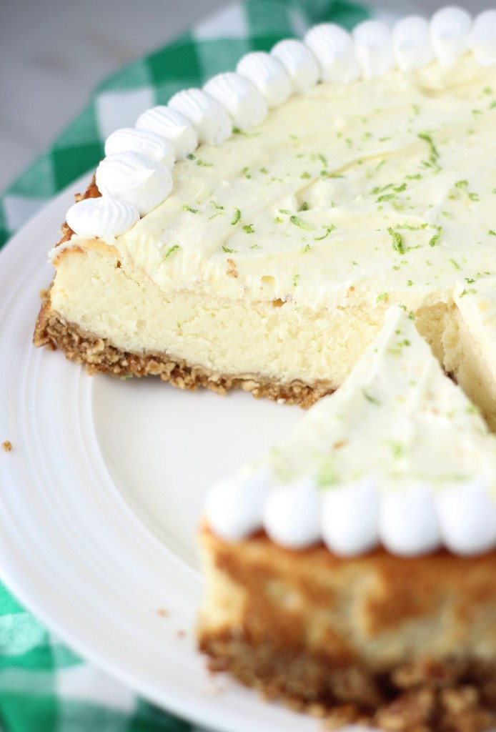 key lime cheesecake with pretzel crust 17